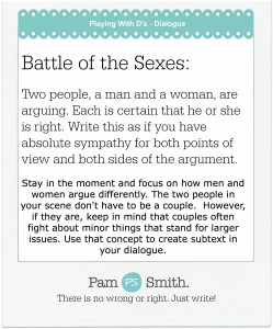 Week 6 Dialogue battle of the sexes